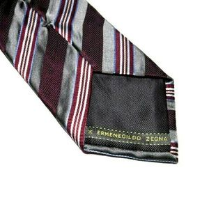 Vintage Ermenegildo Zegna Luxury Striped Tie 100%